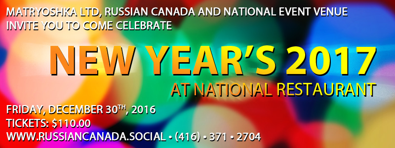 Russian Canada New Year's Party at National Restaurant